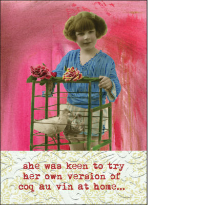 coq au vin greeting card