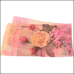 "Silk crepe de chine scarf ""Dancing queen"" 1650 x 450 mm"