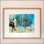 "Gabriela Szulman original giclee print collage on paper ""starter home"" 420 x 520 mm framed"