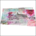 "Gabriela Szulman Silk crepe de chine scarf ""waiting for you"" 1650 x 450 mm"
