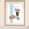 stuffed marrow vintage recipe giclee print on paper