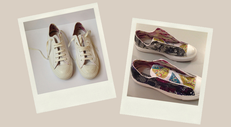 from this to this decoupage test converse