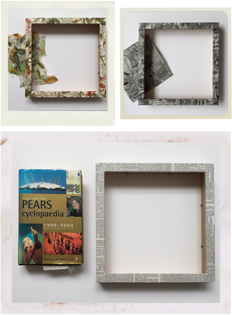 Ikea hacks: 3 Ribba frames upcycled with decoupage