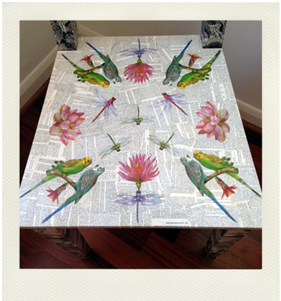 kitchen chair upcycled with decoupage using book pages and paper napkins, ikea furniture hacks