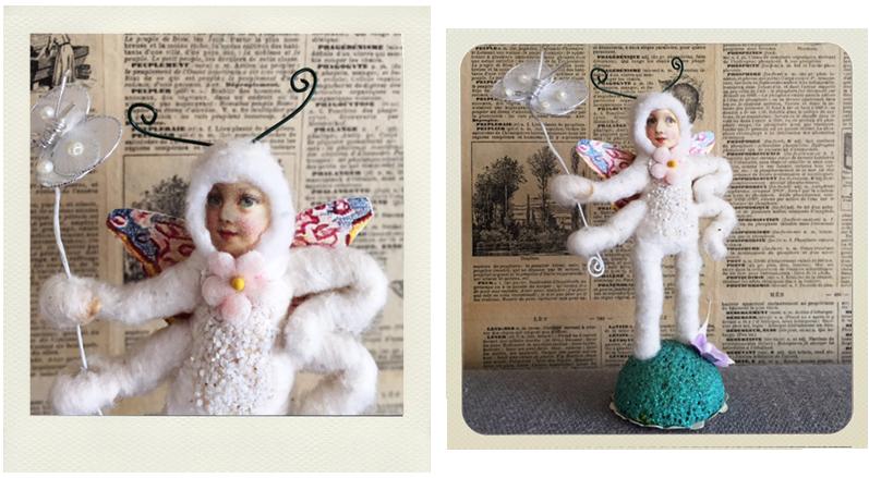 spun cotton miniature by Crystal Sloane
