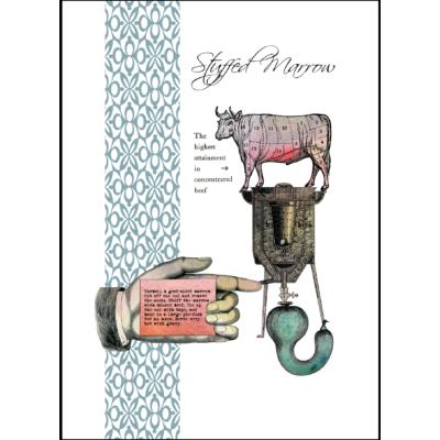stuffed marrow vintage recipe giclee print on paper