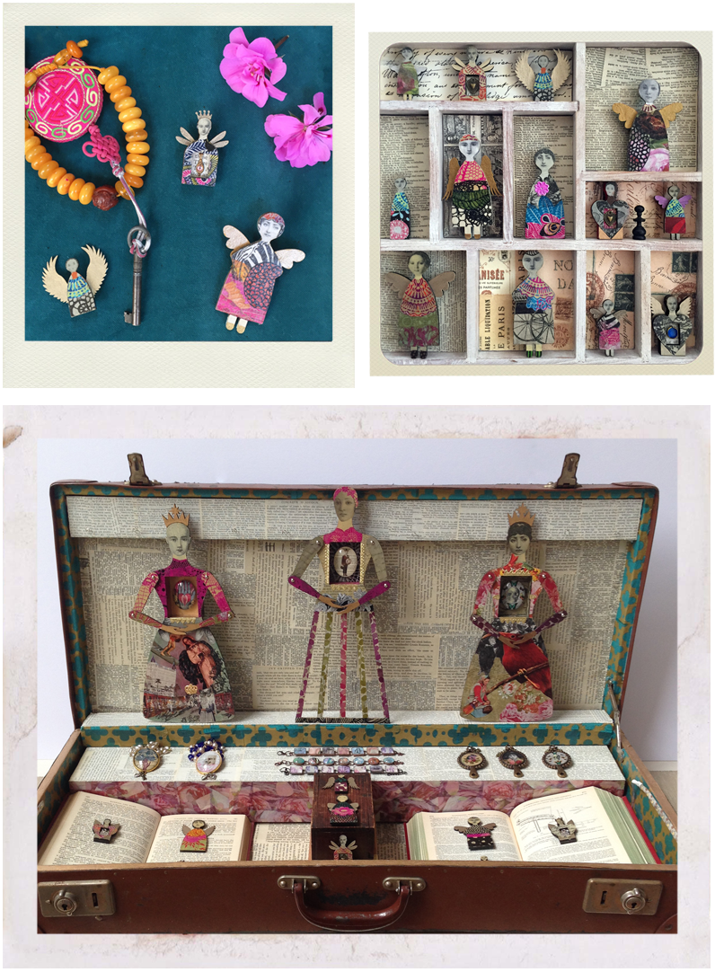 displays of jewellery and art dolls