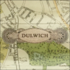 map of dulwich decoupage glass dish closeup