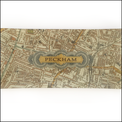 vintage map of peckham SE15 decoupage glass dish