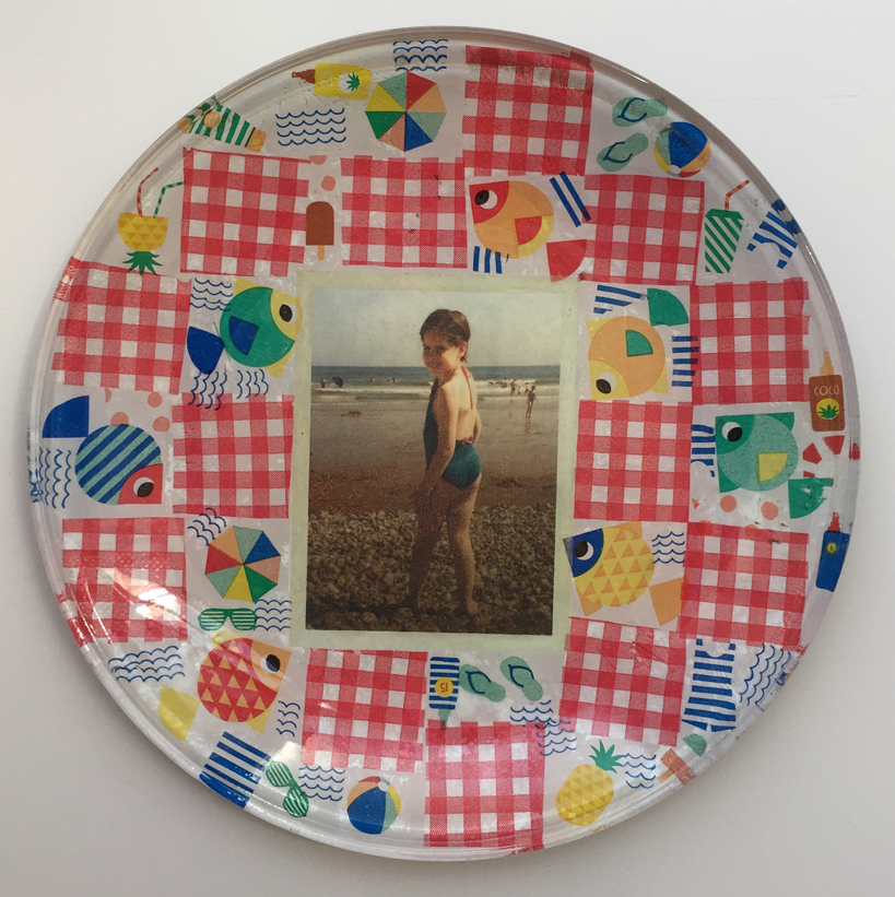 hen party glass plate decoupage Laura