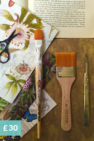 introduction to decoupage workshops