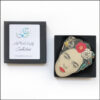 rida kahlo brooch red flower in gift box