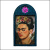 Frida Kahlo handmade art brooch