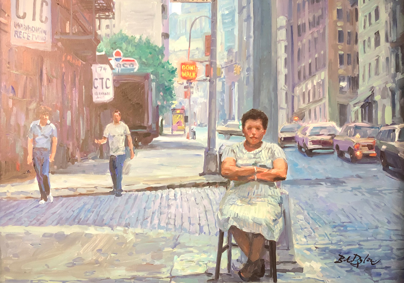 Bob Dylan New York Painting Halcyon Gallery London W1